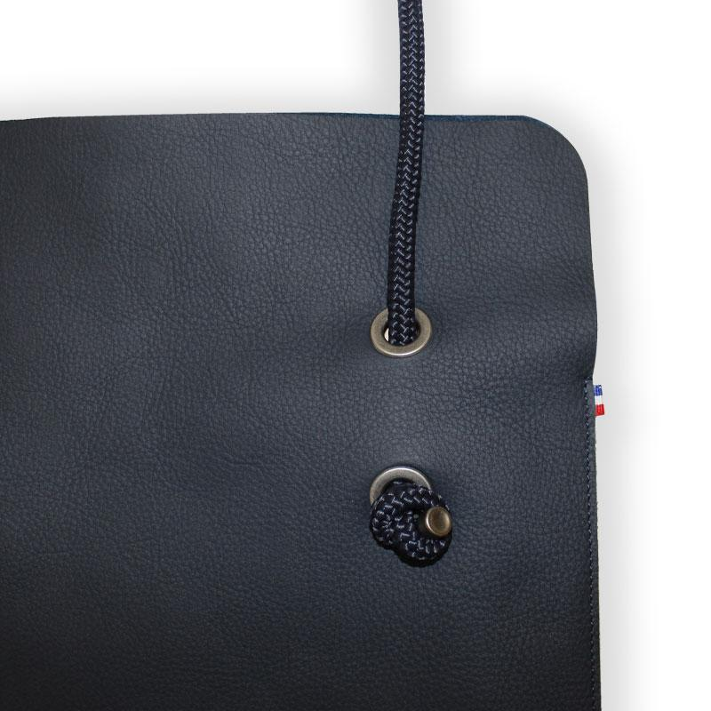 Sac Divine CUIR Bleu nuit | Anse Encre sombre - AMWA and CO