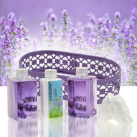 Bath And Body Gift Set - Lavender Gift Set For Women: Body Lotion, Bubble Bath, Shower Gel, And Bath Fizzer