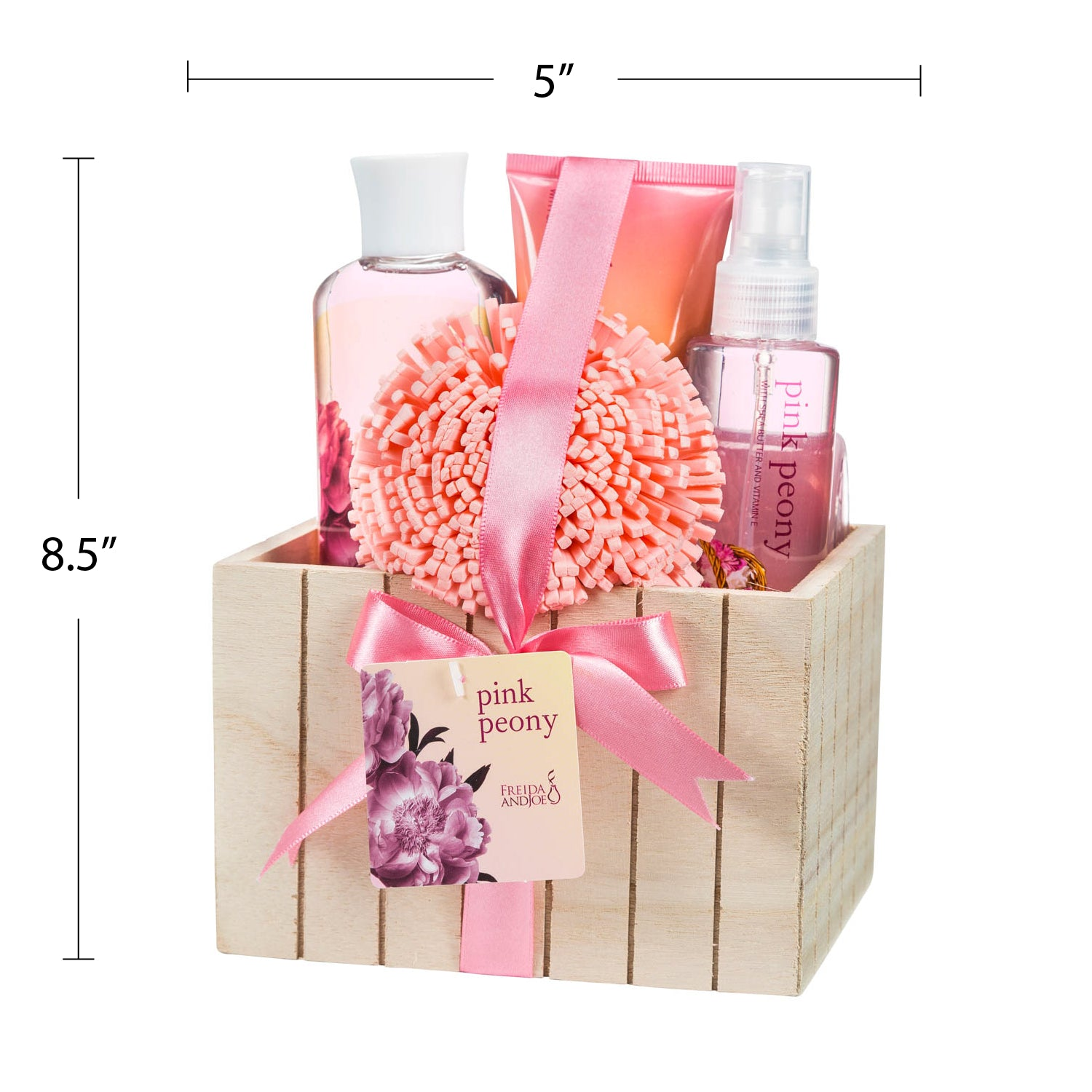Pink Peony Spa Bath Gift Shower Gel Bubble Bath Body Spray Body Lo Freida Joe
