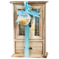 Gift Set - Oceanside Breeze Spa Bath Gift Set In Curio: Shower Gel, Bubble Bath, Body Lotion & Puff