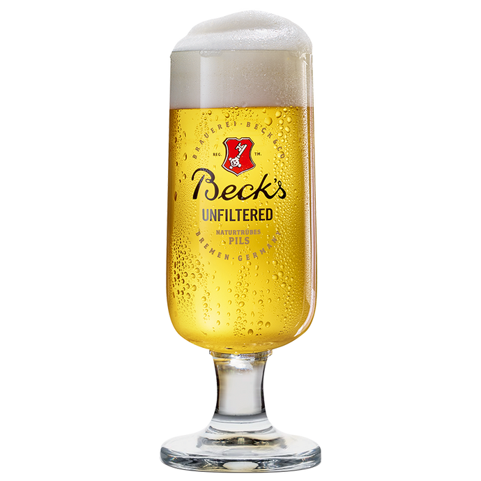 Beck's Unfiltered Glas