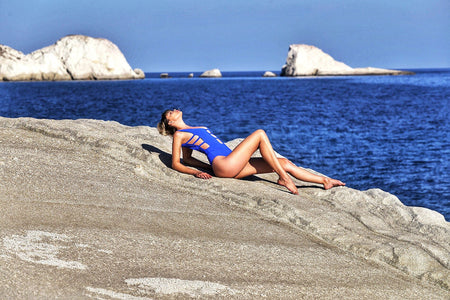French Starlet Pauline Baly takes Sauvage to the beaches of Mykonos