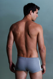 Sauvage Swimwear, Designer Swimwear from San Diego, CA made in usaFootball Lace-Up, Small - 30 / Grey/White, Mens Swim, Men's Swim, Sauvage - 5