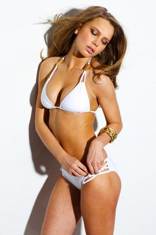 Sauvage Swimwear, Designer Swimwear from San Diego, CA made in usaSpider Bikini White, , Swim, sauvage swimwear, Sauvage - 1