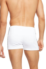 Lace-up Ribbed Athletic Short - White