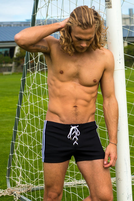 Lace-up Ribbed Athletic Short