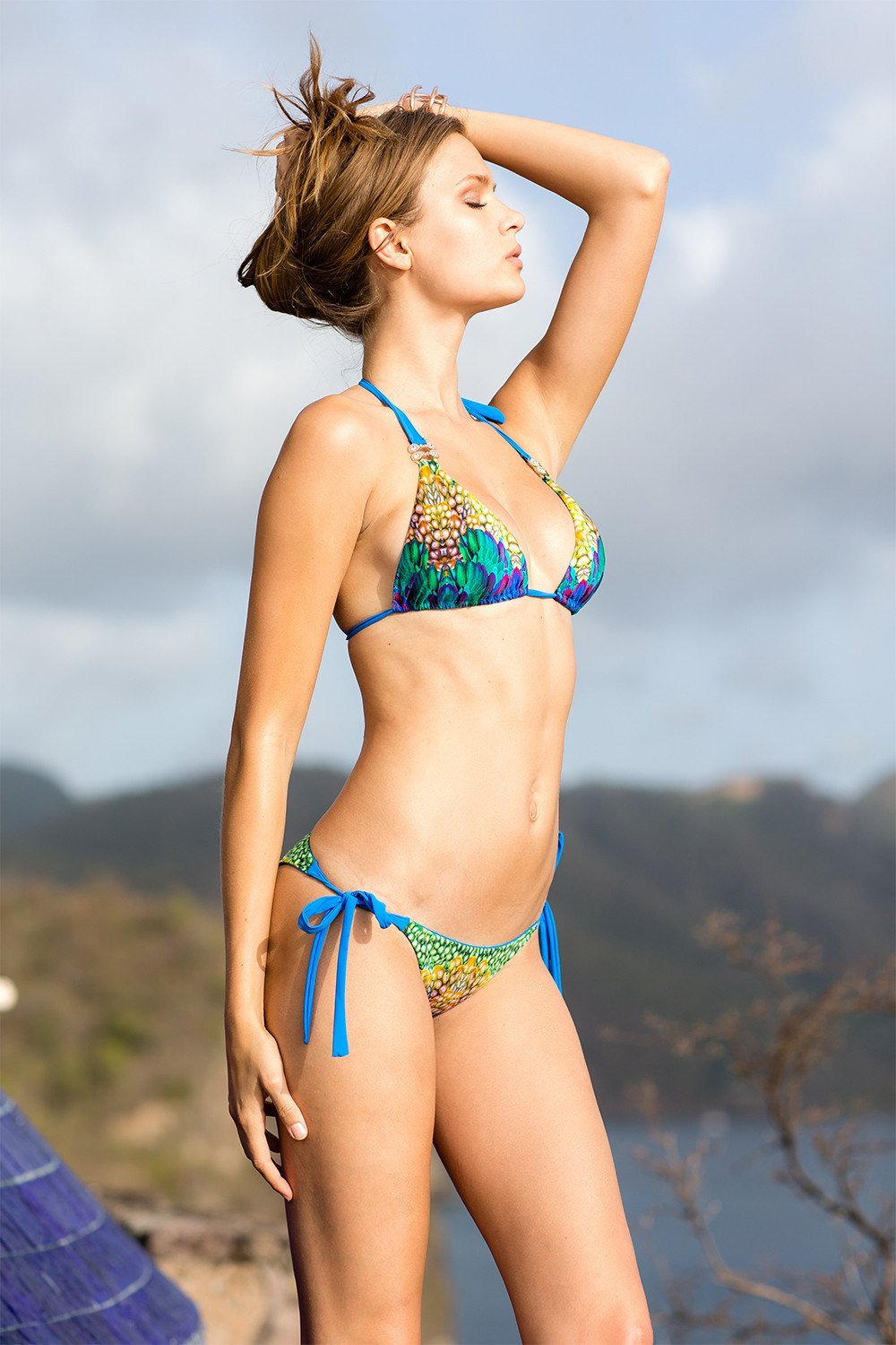 Sauvage Swimwear, Designer Swimwear from San Diego, CA made in usaJade Mountain Royal Blue Bikini, , Swim, sauvage swimwear, Sauvage - 3