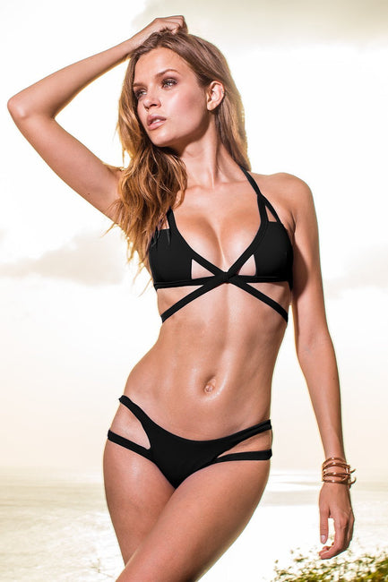 Sauvage Swimwear, Designer Swimwear from San Diego, CA made in usaAurora Bikini, Small / Small Full / Black, Swim, sauvage swimwear, Sauvage - 4