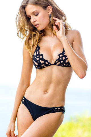 Sauvage Swimwear, Designer Swimwear from San Diego, CA made in usaLavish Laser Cut Bikini, , Swim, sauvage swimwear, Sauvage - 1
