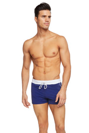 Retro Lycra Swimmer - Navy