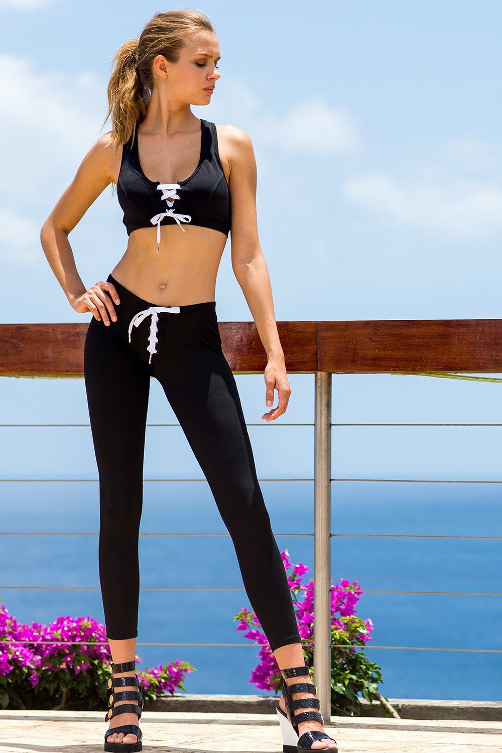 Sauvage Swimwear, Designer Swimwear from San Diego, CA made in usaAthletic Lace-Up Workout Pant, , , Sauvage Swimwear, Sauvage - 1
