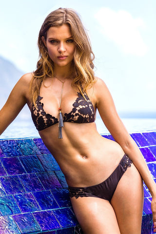 Sauvage Swimwear, Designer Swimwear from San Diego, CA made in usaSelene Laser Cut Bikini, , Swim, sauvage swimwear, Sauvage - 1