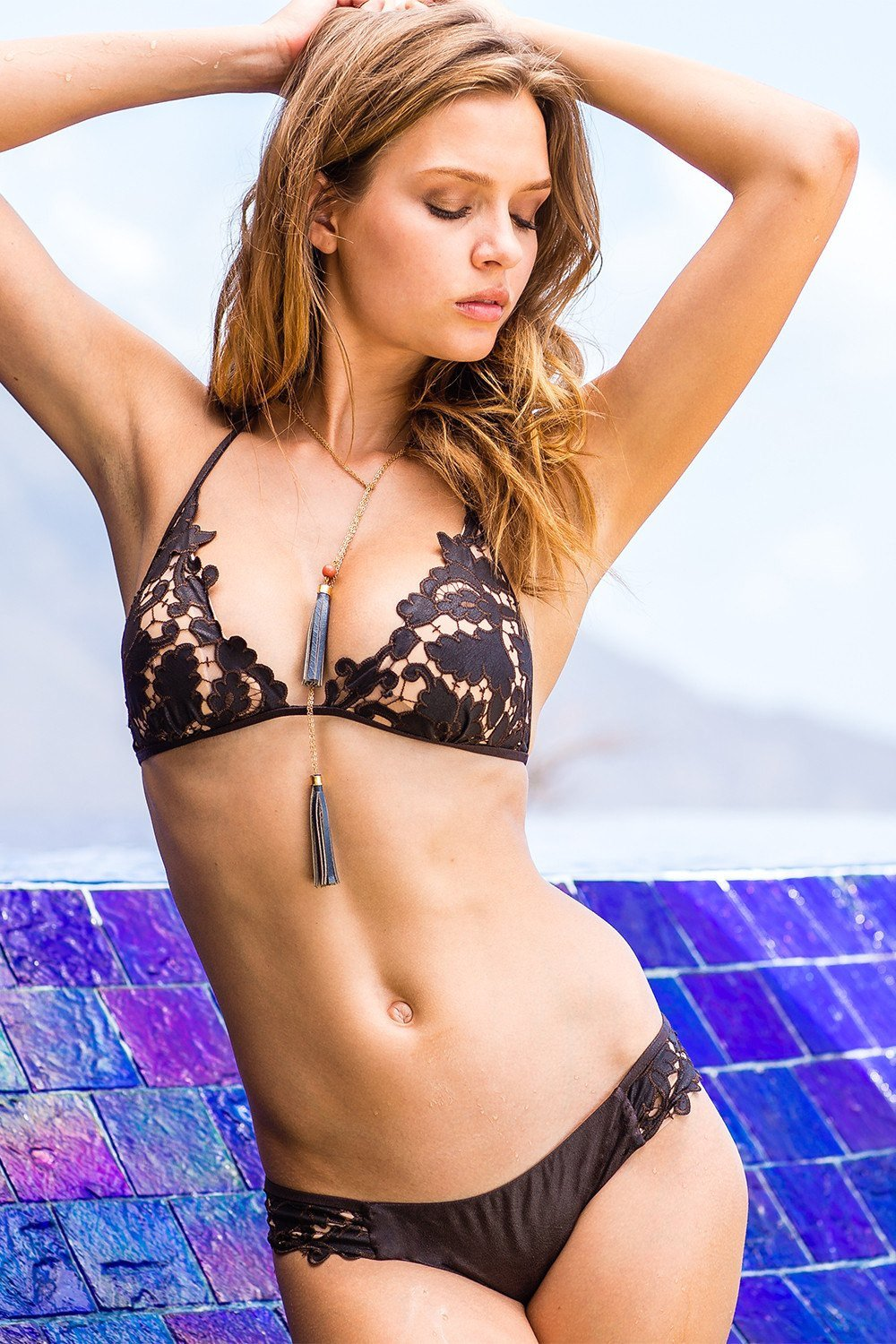 Sauvage Swimwear, Designer Swimwear from San Diego, CA made in usaSelene Laser Cut Bikini, , Swim, sauvage swimwear, Sauvage - 3