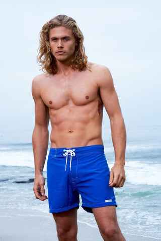 Sauvage Swimwear, Designer Swimwear from San Diego, CA made in usaLow Tide Surf Short, Large - 34 / Cobalt, Mens Swim, Men's Swim, Sauvage - 1
