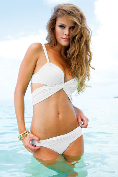 Sauvage Swimwear, Designer Swimwear from San Diego, CA made in usaMon Cheri Bikini White, , Swim, sauvage swimwear, Sauvage - 1