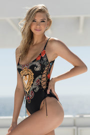 Heartbreaker Side-Lace One Piece