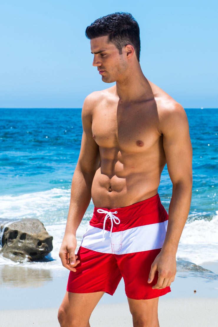 Red Cali Surf Short