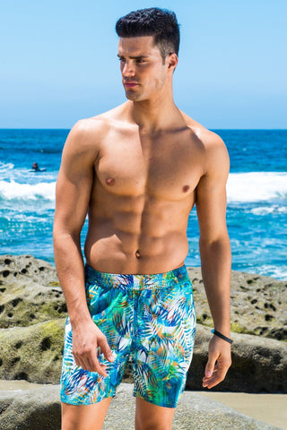 Capri Midlength Beach Trunk - Jungle