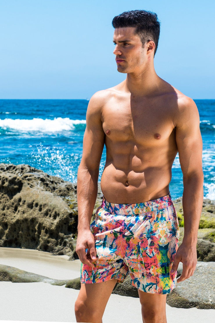 Capri Midlength Beach Trunk - Festival