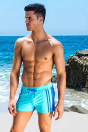 Sky/Royal Moderno Two-tone Swim Trunk