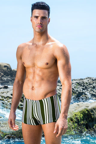 Capri Stripe Beach Trunk Royal