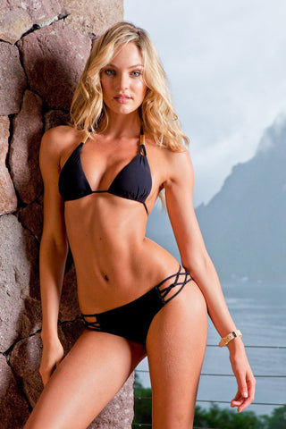 Sauvage Swimwear, Designer Swimwear from San Diego, CA made in usaSpider Bikini Black, , Swim, sauvage swimwear, Sauvage