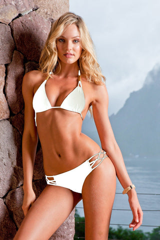 Sauvage Swimwear, Designer Swimwear from San Diego, CA made in usaSpider Bikini White, , Swim, sauvage swimwear, Sauvage - 2