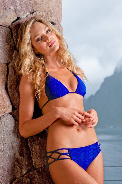 Sauvage Swimwear, Designer Swimwear from San Diego, CA made in usaSpider Bikini Cobalt, , Swim, sauvage swimwear, Sauvage - 1