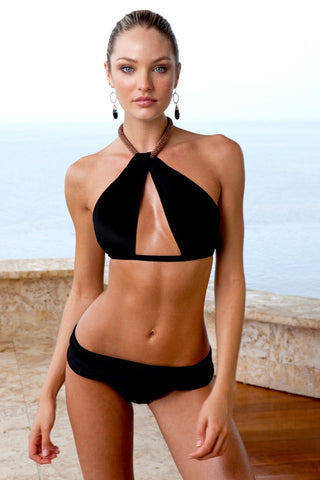 Sauvage Swimwear, Designer Swimwear from San Diego, CA made in usaVenezia Twist Bikini Black, , Swim, sauvage swimwear, Sauvage - 1
