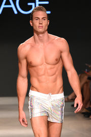 Silver Shine Swim Trunks