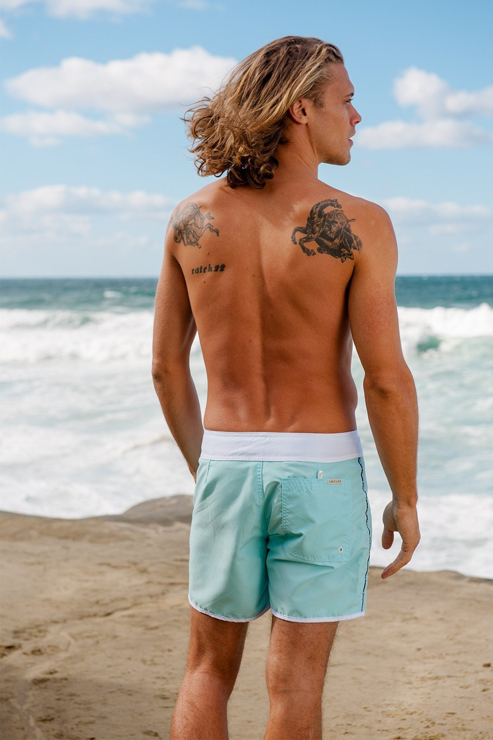 Sauvage Swimwear, Designer Swimwear from San Diego, CA made in usaPromenade Surf Short, , Mens Swim, Sauvage Swimwear Mens, Sauvage - 6