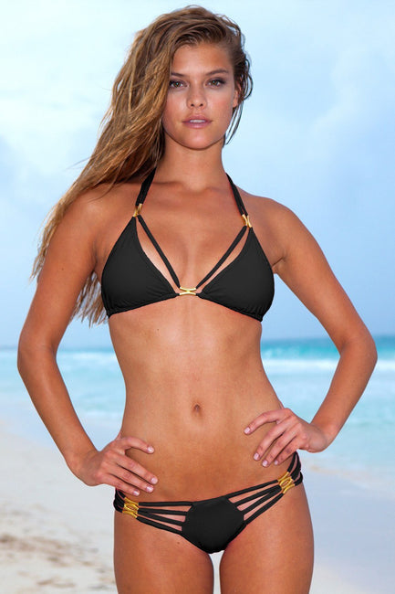 Sauvage Swimwear, Designer Swimwear from San Diego, CA made in usaThe Diva Bikini Black, , Swim, sauvage swimwear, Sauvage