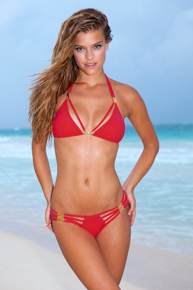 Sauvage Swimwear, Designer Swimwear from San Diego, CA made in usaThe Diva Bikini Red, , Swim, sauvage swimwear, Sauvage