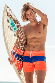 Miami Brights Board Short - Orange/Royal