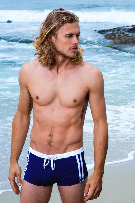 Sauvage Swimwear, Designer Swimwear from San Diego, CA made in usaRiviera Square Cut, Small - 30 / Navy, Mens Swim, Sauvage Swimwear Mens, Sauvage - 4