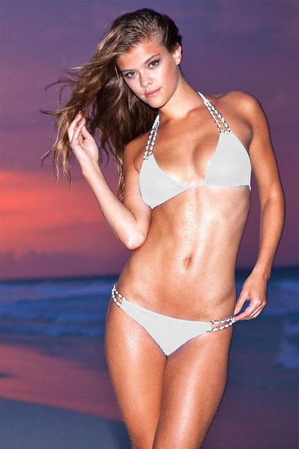 Sauvage Swimwear, Designer Swimwear from San Diego, CA made in usaMariposa Halter White, , Swim, sauvage swimwear, Sauvage