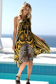 Luxe Leopard Silk Resort Dress