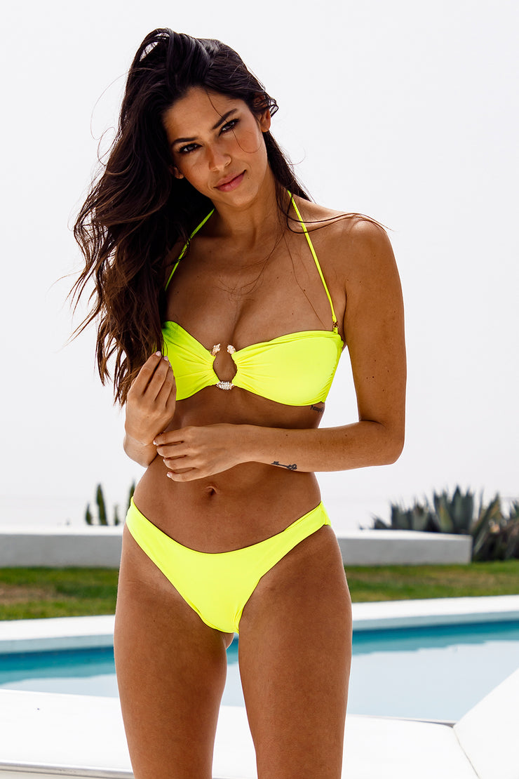Citron Fluo Bandeau Top