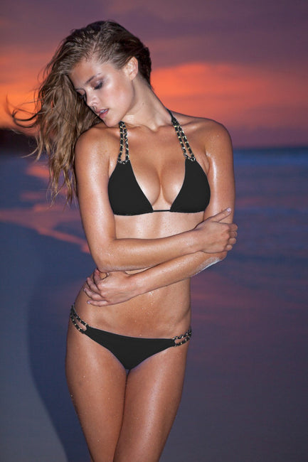 Sauvage Swimwear, Designer Swimwear from San Diego, CA made in usaMariposa Halter Black, , Swim, sauvage swimwear, Sauvage