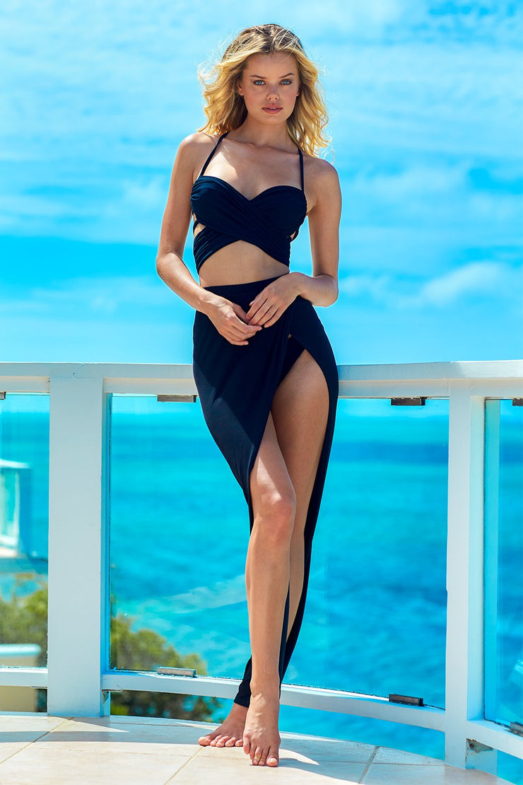St. Tropez Black Skirt