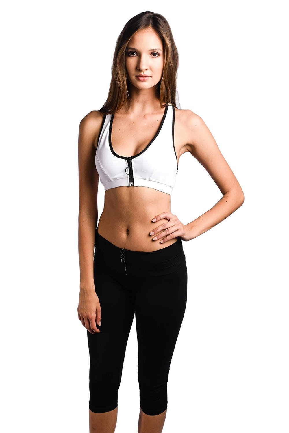 Sauvage Swimwear, Designer Swimwear from San Diego, CA made in usaMonaco Zip-up Sports Bra, , , Sauvage Swimwear, Sauvage - 2