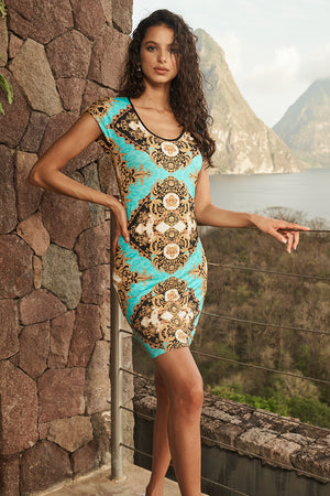 Toscana Fitted Viscose Dress