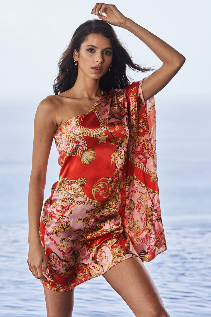 Coral Reef Silk Resort Dress