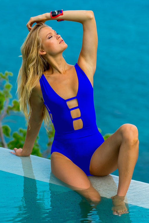 Ladder One Piece in Cobalt