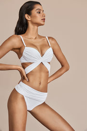 Mon Cheri White Banded Resort Bottom