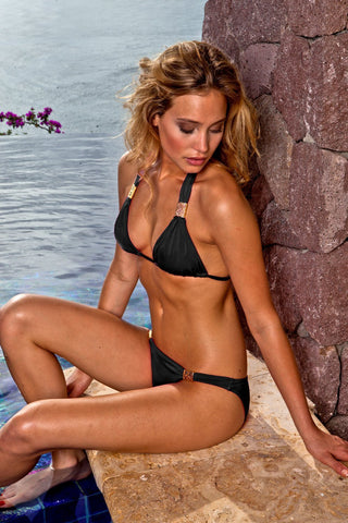 Sauvage Swimwear, Designer Swimwear from San Diego, CA made in usaSantorini Black, , Swim, sauvage swimwear, Sauvage