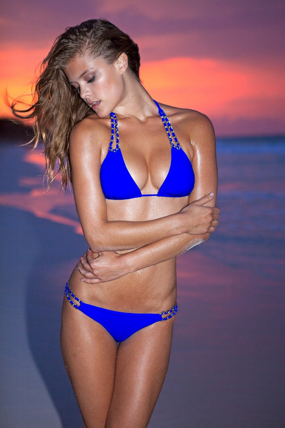Sauvage Swimwear, Designer Swimwear from San Diego, CA made in usaMariposa Halter Cobalt, , Swim, sauvage swimwear, Sauvage - 1