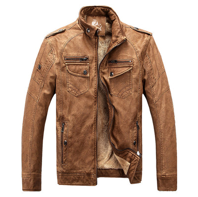 David Outwear Fleece Biker Jacket