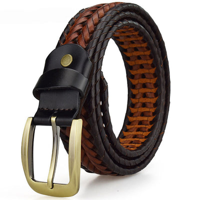 David Outwear Braided Leather Belt