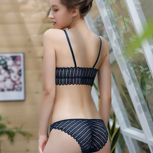 Sexy Backless Bra And Panty Set